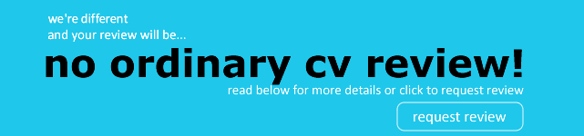 No ordinary CV review